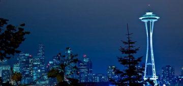 Космическая игла в Cиэтле – Space Needle, город Сиэтл имеет великолепную архитектурную достопримечательность - здание под красивым названием - Космическая игла