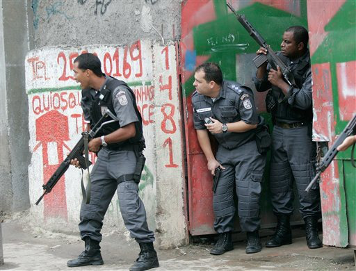 Бразильская полиция считается одной из самых жестоких служб правопорядка в мире