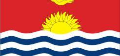 Флаг Республики Кирибати — имеет прямоугольную форму, страна сама по себе не большая. На флаге изображена птица, море, и горизонт. На верхней части флага красный цвет, он символизирует небо.