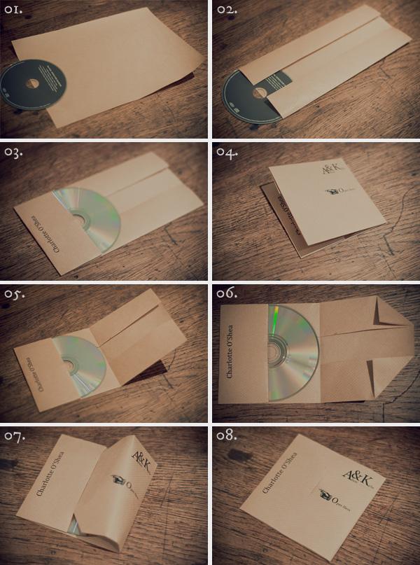 Как упаковать диск в лист А-4?