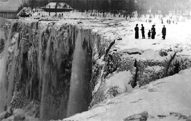 интересные факты, факты о погоде, ниагарский водопад замерз