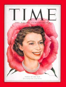 В 1952 году читатели журнала «Time» назвали Английскую королеву женщиной года.