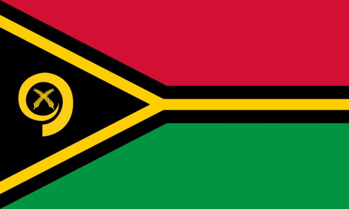 В 1980 г. Республика Вануату обрела независимость и был принят национальный флаг Вануату, Основу флага составляют 4 цвета: черный, красный, зеленый и золотисто-желтый.