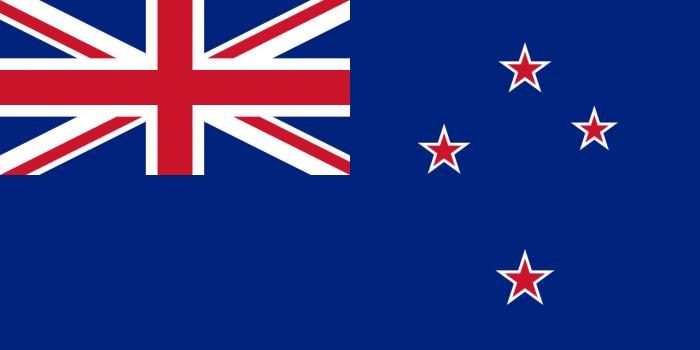 Королевство Новая Зеландия является островным государством. Его берега омывают воды Тихого Океана. Именно поэтому за основу при создании флага Новой Зеландии был принят синий цвет.