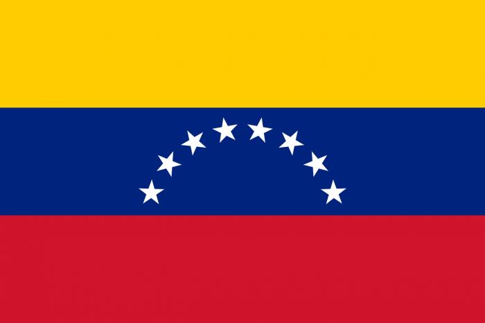 Флаг Венесуэлы представляет собой полотно прямоугольной формы с равными по ширине треaмя горизонтальными полосами. История флага Венесуэлы и его значение тесно связаны с борьбой народа Венесуэлы от владычества Испанской империи.
